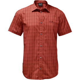 Jack Wolfskin Rays Stretch Vent Fietsshirt Korte Mouwen Heren, mexican pepper checks